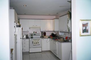 Armoires de cuisine transform es avec ajouts de moulures - Melamine c est quoi ...